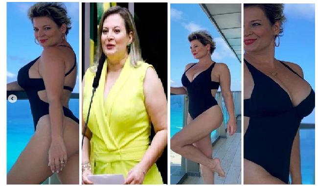 """A deputada federal Joice Halsselmann, posta foto de maiô, após ter perdido 24 kg """"Tem que fazer uma CPI para gente saber como pode ficar linda assim"""""""